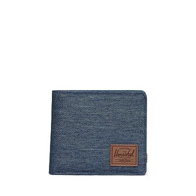 Herschel Supply Co. Roy Coin XL RFID (Indigo Denim Crosshatch/Saddle Brown) Wallet Handbags