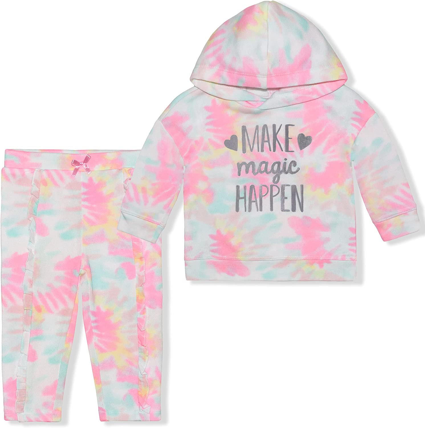 Nannette 2 Pack Hoodie and Jogger Pant Set, Comfy Active Wear for Babies and Toddlers
