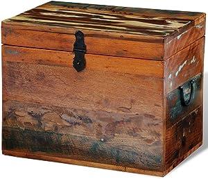 vidaXL Caja de Almacenaje Almacenamiento Organizador Accesorio Madera Reciclada