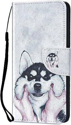 Kompatibel f�r Xiaomi Redmi 5 Plus H�lle Ledertasche Flip Case,QPOLLY Premium PU Leder Gemalt Muster Brieftasche Klapp Schutzh�lle im Bookstyle mit Kredit Karten Fach Magnet Handy H�lle Tasche,Hund