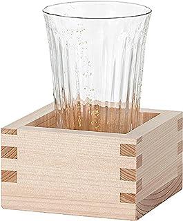 アデリア 津軽びいどろ 酒器 酒グラス クリア 150ml 枡酒杯 朧月夜 星(枡付き) 1個箱入 日本製 F-71352