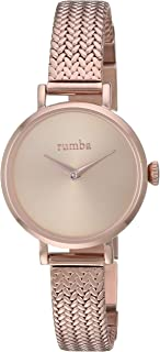 RumbaTime Women's 'Hudson Weave' Quartz Stainless Steel Casual Watch, Color:Rose Gold-Toned (Model: 28331)
