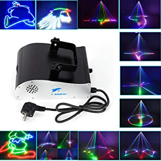 BoTaiDaHong Stage Party Light 1000mW RGB DMX 3D Animation DJ Show Light for Bands KTV Club Party Lighting Projector Show Wedding Stage More than 128 Patterns, Over 350 effects