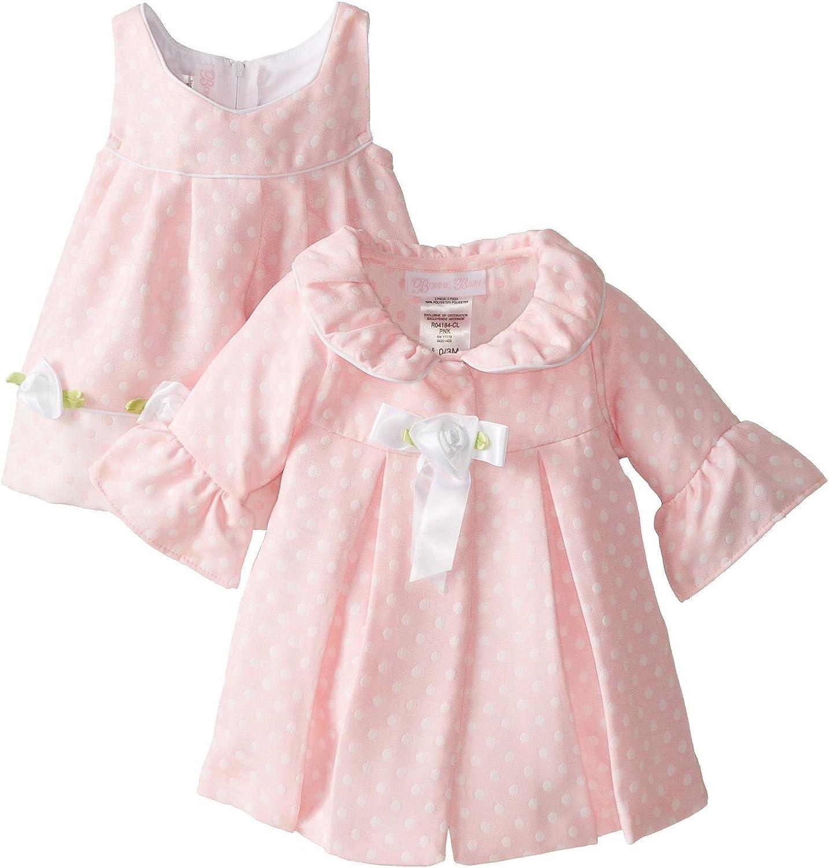 Bonnie Regular dealer Baby Baby-Girls Newborn Pink Set Dot Coat Limited time sale Dress and