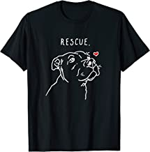 Rescue Love Smiling Pit Bull, Pittie, Pitbull Mom, Dog Lover T-Shirt
