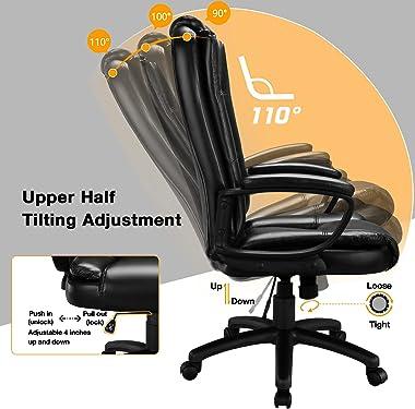 OFIKA Home Office Chair, 400LBS 8Hours Heavy Duty Design, Ergonomic High Back Cushion Lumbar Back Support, Computer Desk Chai
