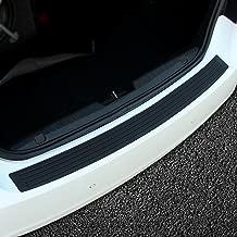 JessicaAlba Black Scuff Protector Kit Rubber Rear Guard Bumper Protector Trim Cover for Most Truck SUV Car (41 inch)