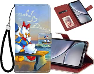 DISNEY COLLECTION Wallet Case with Magnetic Closure Fit for Apple iPhone Xr 6.1 Version Donald Duck and Daisy Suset Message in The Clouds Romantic Couple Wallpapers Free Download Team