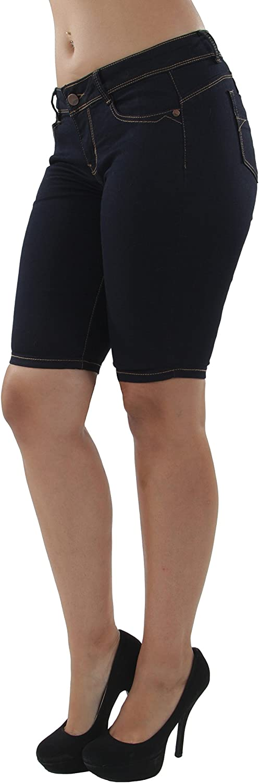 9Y142MB - Plus Size, Butt Lift, Levanta Cola, Denim Booty Bermuda Shorts