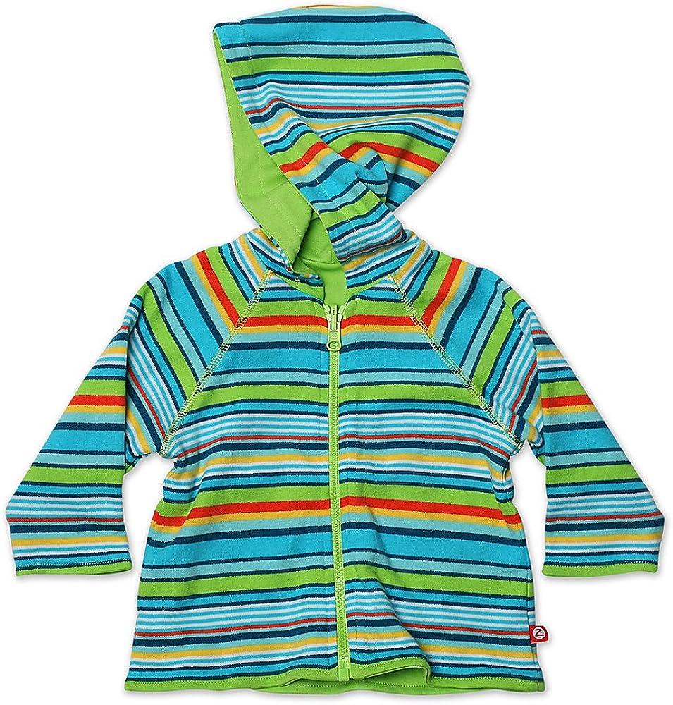 Zutano Baby Boys Multi Stripe Reversible Zip Hoodie