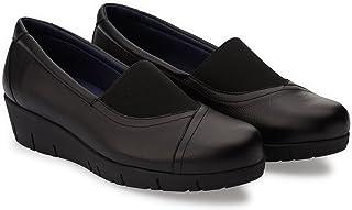 Oneflex Chaussures Orthopediques Femme antidérapant- Mod. Marie en Cuir Noir