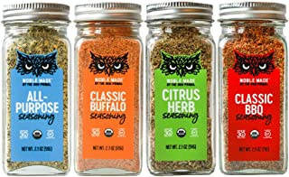 Noble Made by The New Primal - Spices Seasonings & Dry Rubs - 4 Count Variety Pack - Classic Buffalo, Classic BBQ, Citrus ...