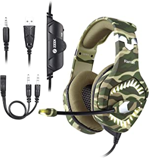 Zoook Premium Gaming Headphone 7.1ch Surround Sound with RGB Lights, Ultra-Comfort memory Foam; compatible with PC, Xbox,P...