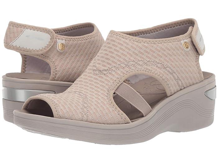 Bzees  Dream (Beige Sheer Fishnet) Womens Sandals
