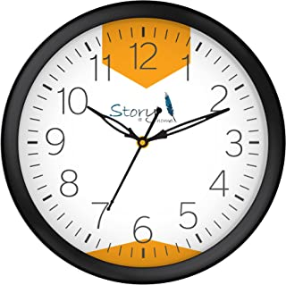 Story@Home Round Shape Plastic Modern Stylish Wall Clock with Glass for Home/Kitchen / Living Room/Bedroom/Office - 10 in ...