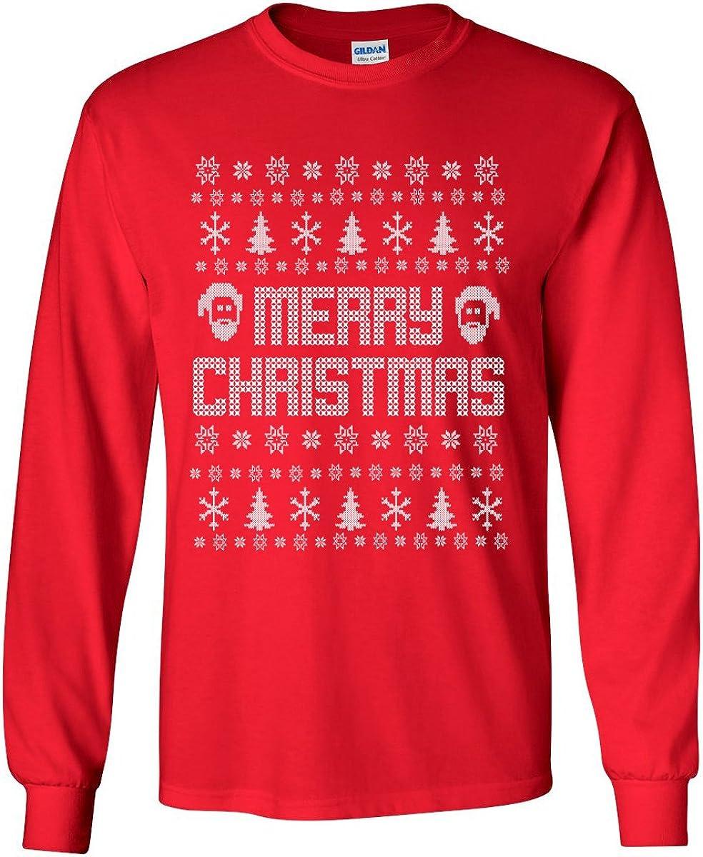 zerogravitee Ugly Holiday Shirt Merry Christmas Adult Long Sleeve T-Shirt