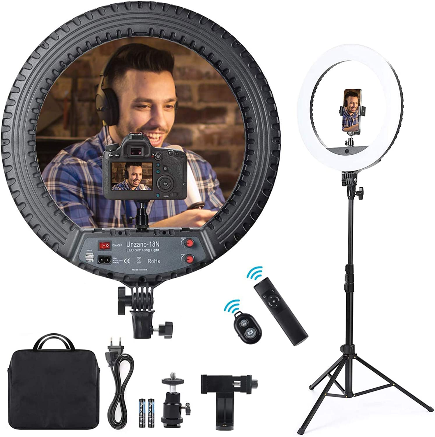18 Max Dedication 52% OFF inch Ring Light with Stand Phone Holder Big and Remote