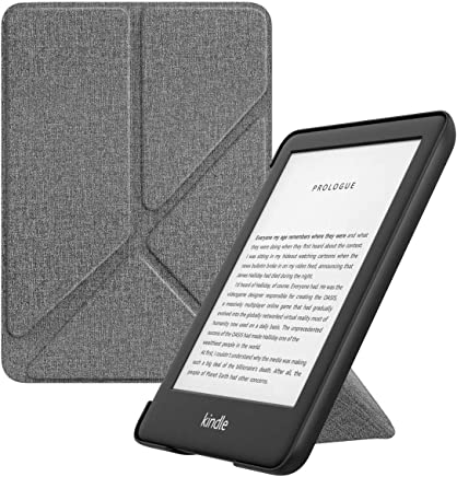 MoKo Case Fits All-New Kindle 10th Generation 2019 Release, Premium Standing Origami Shell Cover with Auto Wake/Sleep Function - Denim Gray