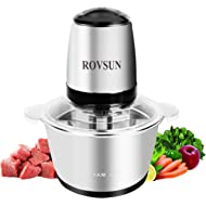 ROVSUN 8 Cup Electric Food... ROVSUN 8 Cup Electric Food Processor Small Chopper 2L 304 Stainless Steel Bowl, 300W One Touch...