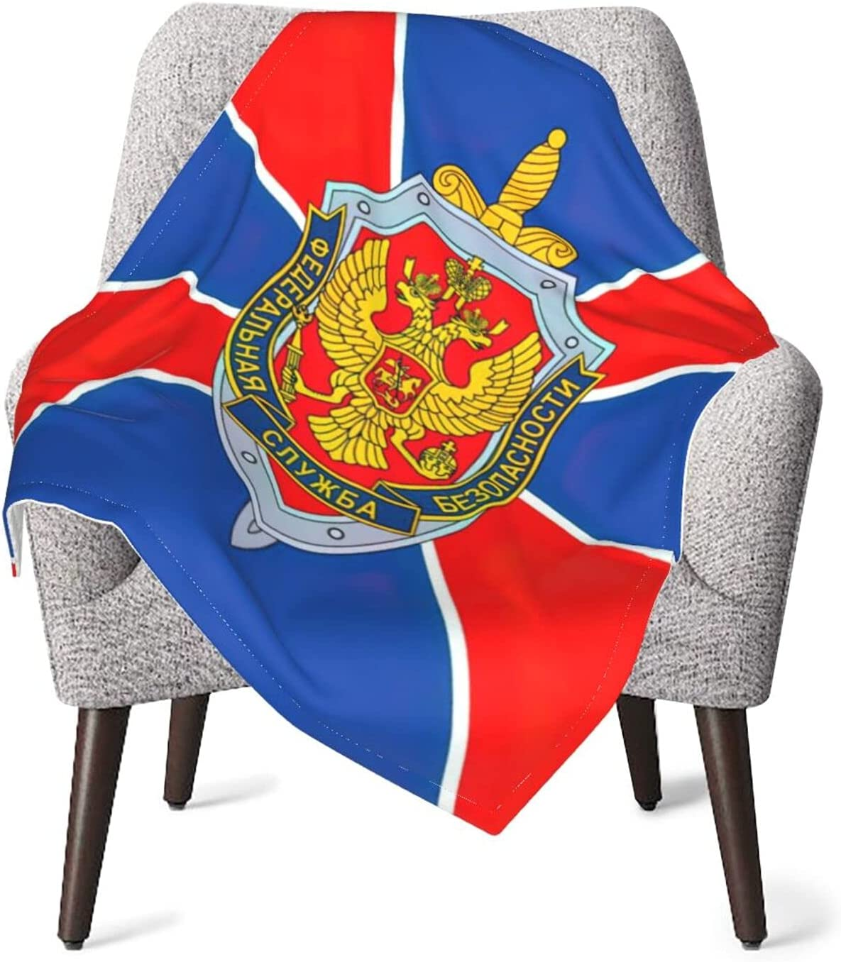 Russian FSB Flag Baby Blanket Double Newborn New item Layer Soft ...