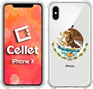 Cellet TPU / PC Proguard Case with Mexico Flag (02) for Apple iPhone X (Renewed)