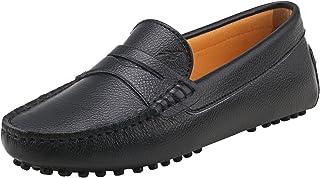 Mujer Zapatos de Cuero - Mocasines Casuales Moda Zapatos Planos Mocasín Slip-on para Mujer D7052