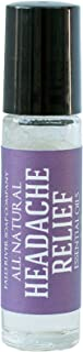 Natural Migraine Relief Roll-on 9.8ml, Safe Headache Relief, Best Therapeutic Grade Essential Oil in fractionated Coconut Oil –Works faster than pills- relieves nausea by Falls River Soap Company