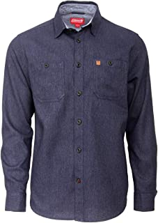Coleman Long Sleeve Heather Cotton Flannel Shirts for Men