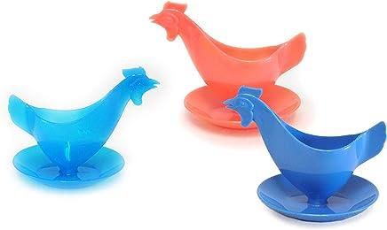 Sonja-Plastic Eierbecher Huhn Sonderfarbe in den Farben eisblau, eisrot und eisgelb Farbauswahl zufällig - Der Kult-Eierbecher Made in Germany - preisvergleich
