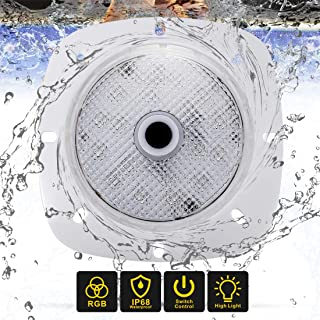 meifrom 100% Waterproof Swimming Pool Light, RGB Underwater Low Voltage Magnetic Pool Light, Great LED Pool Light for Aquarium, Bathtub, Garden, Swimming Pool, Boat, Campsite RVs.Battery Powered.