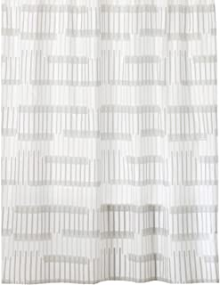 mDesign Water Repellent, Heavy Duty Flat Weave Fabric Shower Curtain, Liner - Weighted Bottom Hem for Bathroom Shower and ...
