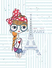 Notebook: Love Paris cover and Dot pages, Extra large (8.5 x 11) inches, 110 pages, notebooks and journals (Love Paris notebook,with Dot pages, Extra large (8.5 x 11) inches, 110 pages) (Volume 41)