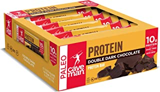Caveman Foods Double Dark Chocolate Protein bar, 1.4 Oz Bars, 12Count
