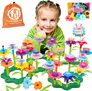COSILY Flower Garden Building Toys, Growing Flower Blocks Playset for Kids, 98 PCS Educational Pretend Play Set Preschool ...