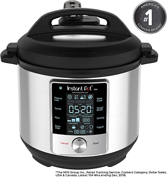Instant Pot Max 6 Quart Multi Use Electric Pressure Cooker With 15psi Pressure Cooking Sous Vide Auto Steam Release Control And Touch Screen