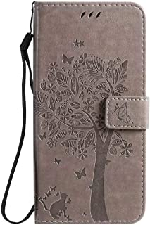 Hllycr LG K20 2019 Leather Cases for girls Flip Kickstand Case with Card Slots Protective Cover for LG K20 2019 - Grey