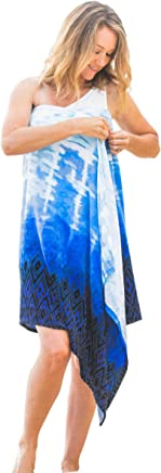 05e6b65d9c Simple Sarongs Women's Beach Towel Swimsuit Cover-up Wrap All-in-One