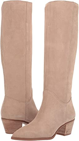 102ef8611c8 Racine carree suede 105mm knee high boot w metal heel