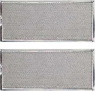 """KONDUONE 2-Pack of W10208631A Filter for Whirlpool Microwave Oven Grease Filter Approx. 13"""" x 6"""" -Replaces W10208631RP AP5617368 PS3650910 Grease Filter Aluminum Mesh Microwave Range Hood Filter"""