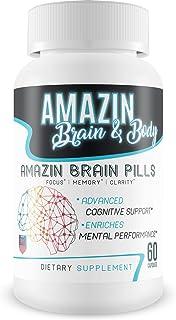 Amazin Brain Pills - Focus - Memory - Clarity - Advanced Cognitive Support - Enriches Mental Performance - Amazin Brain Su...