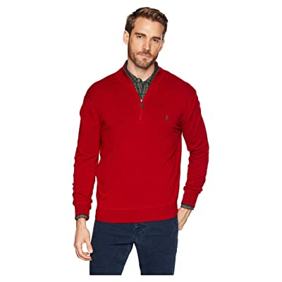Polo Ralph Lauren Washable Cashmere 1/2 Zip Sweater (Carriage Red) Men