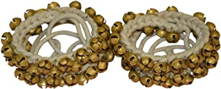 Kathak-Ghungroo-Pair Dancing-Bells- (75+75)-Tied with Cotton Cord Indian Classical,Handmade-Indian-Classical-Dance, Anklet Musical instrument