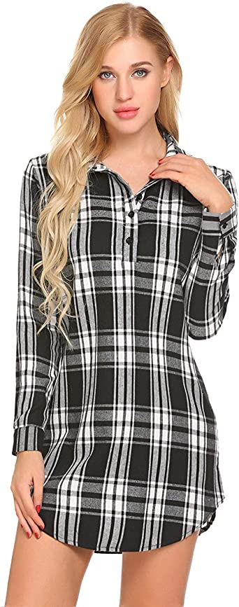 Camisón De Mujer Camisa Corta Vestidos Vintage Cuadros A De ...
