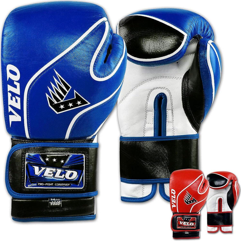 Velo Boxhandschuhe Boxhandschuhe Boxhandschuhe aus Leder für MMA-Kämpfer, Sparring, Boxsack, Training Muay Thai B07NBVMDGW  eine große Vielfalt von Waren 59421f