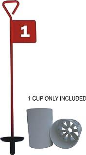 CMW - Bandera para hoyo de golf con vaso, color rojo