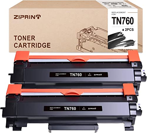 popular ZIPRINT with CHIP Compatible Toner Cartridge Replacement for Brother TN760 online sale TN 760 TN730 for HL-L2350DW MFC-L2710DW DCP-L2550DW MFC-L2750DW HL-L2395DW HL-L2370DW HL-L2390DW (Black, 2-Pack) online sale