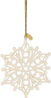Best Lenox 2020 Snow Fantasies Snowflake Ornament, 0.20 LB, Ivory Reviews
