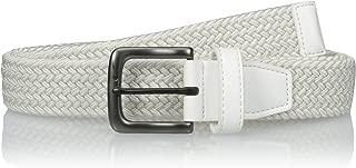 Nike Men's Standard G-Flex Woven Stretch Golf Belt, white, Medium
