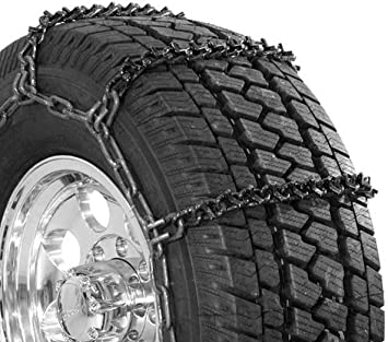 Security Chain Company QG3829 Quik Grip Wide Base V-Bar Type RD Light Truck Tire Traction Chain - Set of 2: image