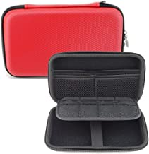 GHKJOK Hard Carrying Case for Nintendo 3DS NEW 3DS XL, 2DS XL & Accessories with Mesh Pouch Multi-Purpose Bag Carry Store Travel - Red